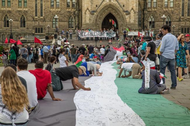 BDS-demonstratie in Ottawa, Canada (foto: Tony Webster).