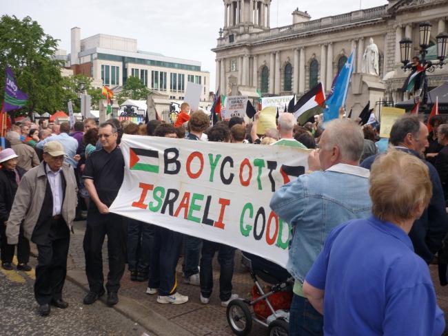 BDS-demonstratie in Belfast, Noord-Ierland (foto: WikiLaurent).