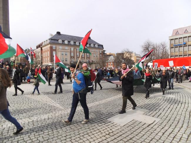 BDS-demonstratie in Trondheim, Noorwegen (foto: Ezzex).