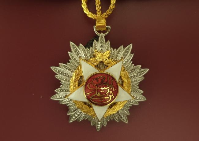 Onafhankelijkheidsmedaille postuum toegekend aan Burckhardt door het Koningshuis van Jordanië