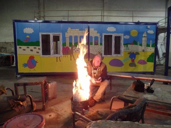 Bouw van schoollokalen in Gaziantep, Turkije
