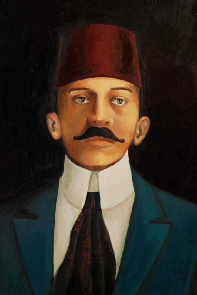 Pierre Loti naar een schilderij van Hasan Thaqi, 2009 (Privébezit Oscar Bergamin)