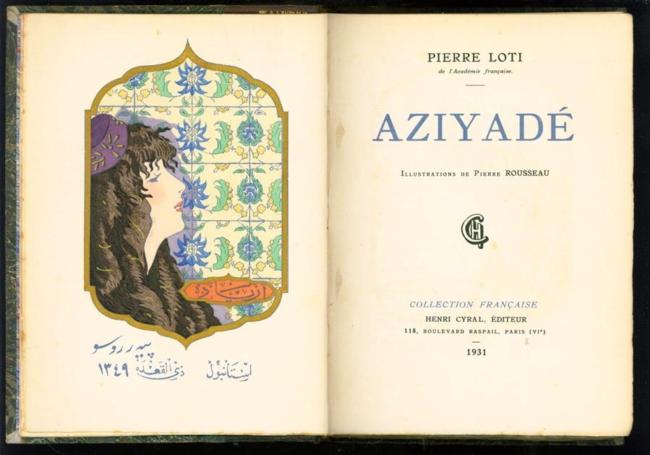 Liefdesroman: Waarschijnlijk het bekendste van alle werken, het semi-autobiografische liefdesverhaal 'Aziyadé'